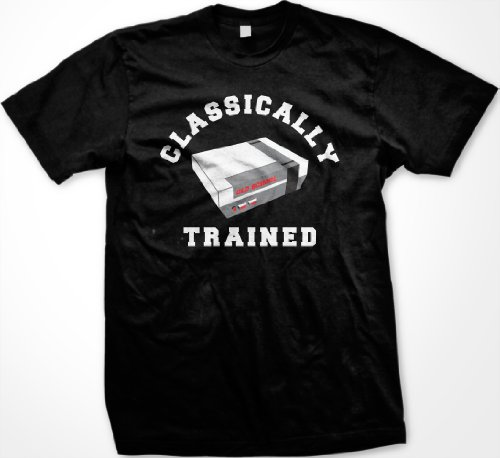 Classically Trained T-shirt, Video Game T-shirt, Old School Nintendo T-shirt , XXX-Large, Black