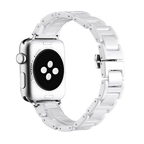 Ceramic Apple Watch Band 38MM White, SOWELL Bracelet ...