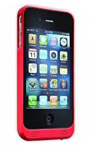 Tekkeon myPower Rechargeable Battery Case with Replaceable Battery Module for AT&T/Verizon iPhone 4/4S - Red