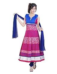 Divinee Fuchsia Cotton Readymade Anarkali Suit