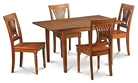 5-Pc Wooden Rectangular Dining Set