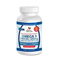 Activa Naturals Omega 3 Fish Oil 1200 mg Ethyl Esters (EE) Supplement - Lemon Coated & GMO Free 180 Antioxidant Softgels
