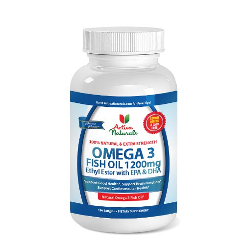 Premium Omega 3 Fish Oil 1200 Mg For 180 Days Supply - Extra Strength Omega 3 Ethyl Esters (Ee) Supplement - Activa Naturals Lemon Coated & Gmo Free Fish Oil Supplement In Superior Ethyl Ester Form