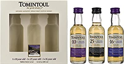 Tomintoul Miniature Triple Pack 40% 16yrs & 25yrs by TOMINTOUL