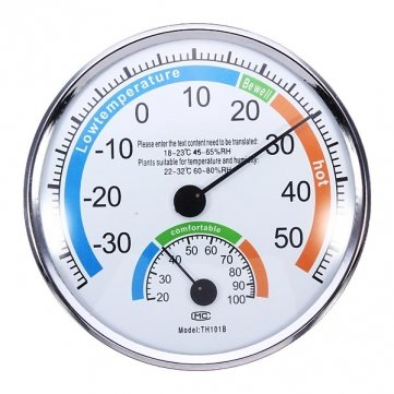 Thermometer and Hygrometer for Indoor And Outdoor Use Weather Meter