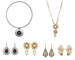 Sixmeter Non-Precious Metal Jewellery Set Combo for Women (Combo-0604-7)