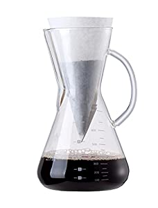 Amazon.com: Diguo Glass Coffee Maker Coffeemaker Decanter with Glass Handle Drip Coffee Pot, 4-5 ...