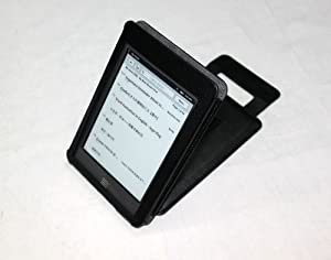"S & L IMP Classic Kindle Touch/Touch 3G Leather Case (Black) for 6"" Kindle Wi-Fi Without Keyboard + Screen Protector"