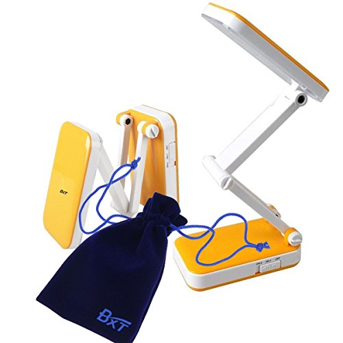 Greenery*/Portable Eye Protection Led Desk Lamp,Reading Light,Foldable &Rechargeable,2 Brightness Settings (Orange, Style 1)