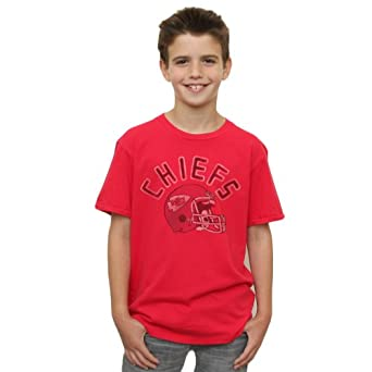 NFL Kansas City Chiefs Youth Kickoff Crew T-Shirt, Large by Junk Food