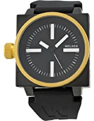 Men's K26 Gold Plated Stainless Steel Case Black Dial Black Rubber Strap Interchangeable Filters