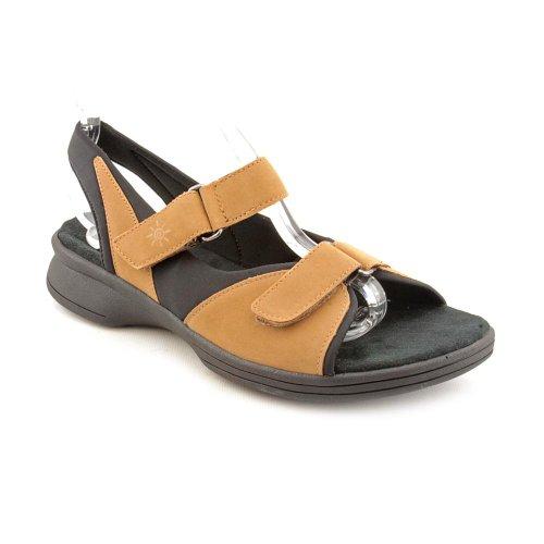Clarks Suntrek Q Open Toe Slingback Sandals Shoes Tan Womens