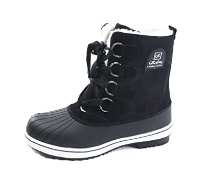 Womens Black Winter Warm Snow Sneakers Boots | Amazon.com