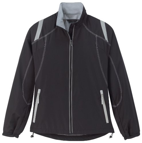 Endurance Ladies' Lightweight Color-Block Jacket, XXL, Black w/ Grey Luster