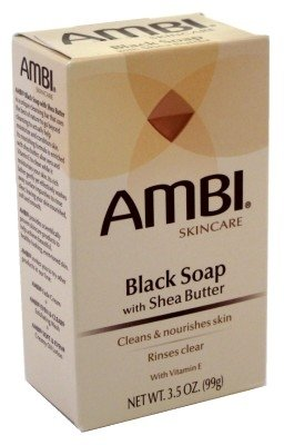 Ambi Cleansing Bar Soap Black With Shea Butter 3.5oz