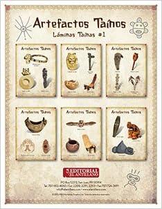 Láminas Taínas #1: Artefactos Taínos (Spanish) Loose Leaf – Large