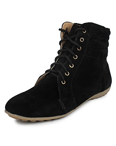 Beonza Women's Black Suede Boots
