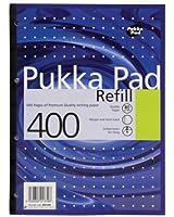 Pukka Bloc à feuilles perforées détachables A4 400 feuilles (Import Royaume Uni)