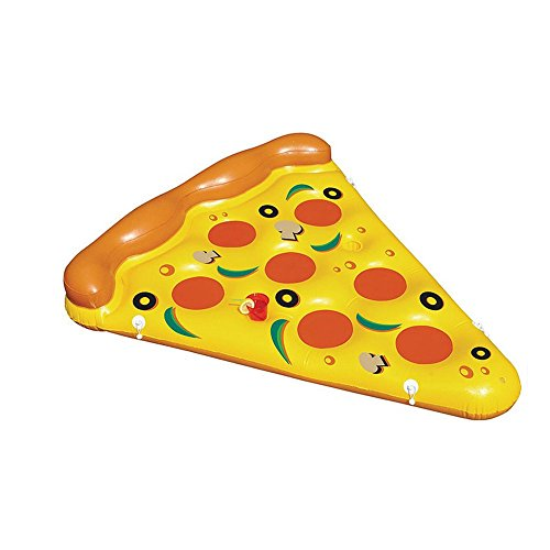 Webetop Summer Inflatable PVC Creative Pizza Slice Floating Lounger