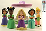 Disney Parks Princess Pack of 5 Princess Bath Toys (Mulan, Tiana, Jasmine, Rapunzel & Tinkerbell) – Disney Parks Exclusive & Limited Availability + BONUS Princess Notepad & Pen Included thumbnail