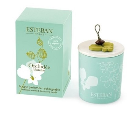 Esteban Orchidee Blanche Scented Decorative Candle Refillable 5.3 oz