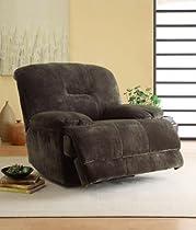 Big Sale Homelegance 9723-1PW Upholstered Power Recliner Chair, Dark Brown, Textured Plush Microfiber