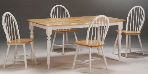 Boraam 80369 5-Piece Farmhouse Dining Room Set,