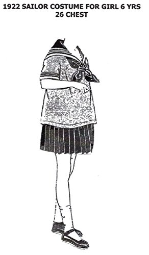 1922 Sailor Costume for Girl 6 Years Pattern