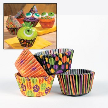 Iconic Halloween Paper Baking Cups - Party Decorations & Cake Decorating Supplies