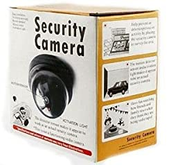 Gadgetbucket Mini Dummy Security Camera Flashing Light Safety Deter Crime Home Business Fake