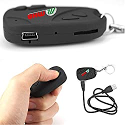 M MHB® Smart Keychain Spy Camera Hidden Audio /Video Recording Support 32GB memory Original Brand Sold by 'M MHB' ONLY