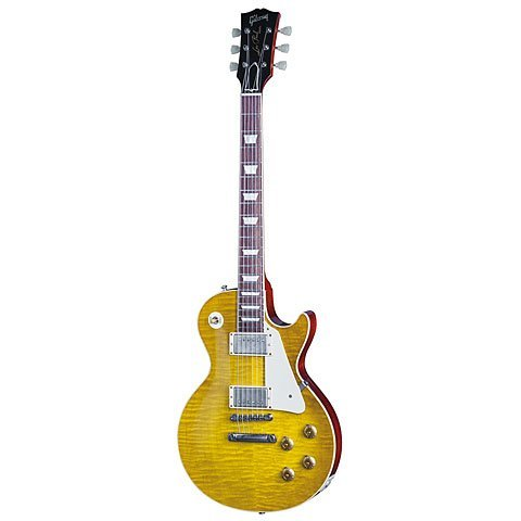 Gibson LPR84VOLBNH1 Les Paul 1958 Plaintop VOS Lemon Burst