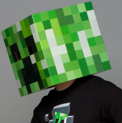 Minecraft creeper head cardboard mask mine craft costume new