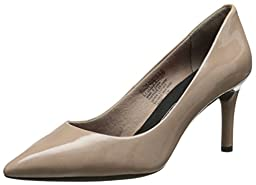 Rockport Women\'s Total Motion 75mm Pointy Toe Dress Pump,Warm Taupe,9.5 W US