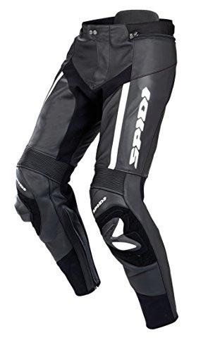 SPIDI - Pantaloni da Moto in Pelle RR PRO, Nero/Bianco, 54