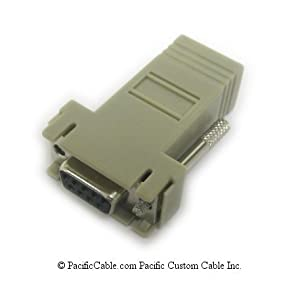 Cisco DB9 Female to RJ45 Female Serial Modular Adapter Terminal - 74-0495-01