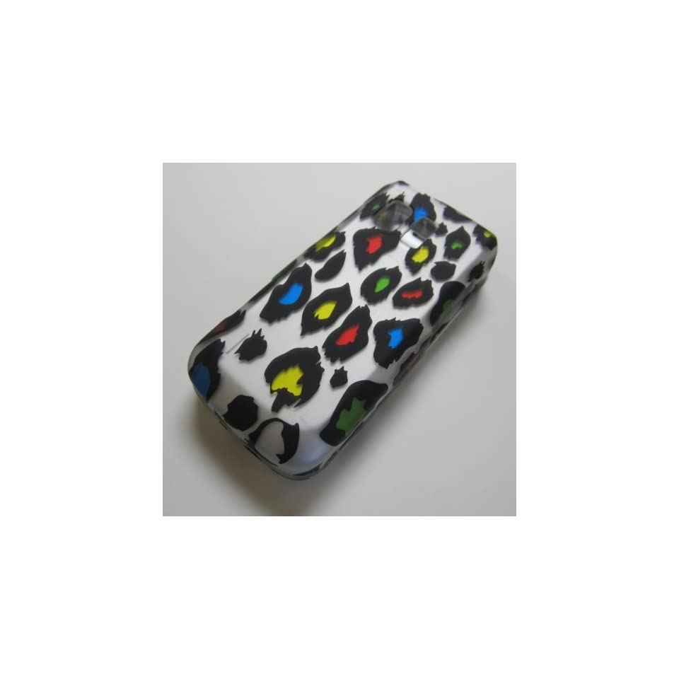 RUBBERIZED HARD PHONE CASES COVERS SKINS SNAP ON FACEPLATE PROTECTOR FOR SAMSUNG MESSAGER 1/I SGH R450 SGH R451C SCH R450C STRAIGHT TALK NET10 TRACFONE  SLIDER / LEOPARD CHEETAH PRINT COLORFUL(WHOLESALE PRICE)