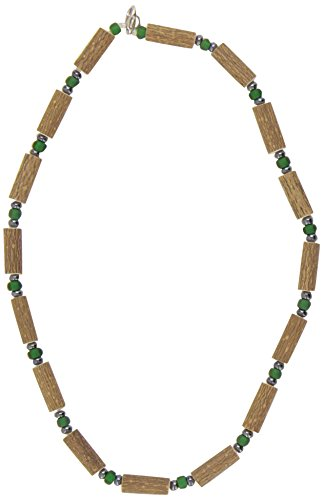 Healing Hazel Hazelwood Men/Teens Necklace, Matte Green/Hematite - 1
