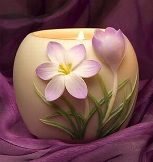 Crocus - Flower of Light Votive by Ibis & Orchid Designs