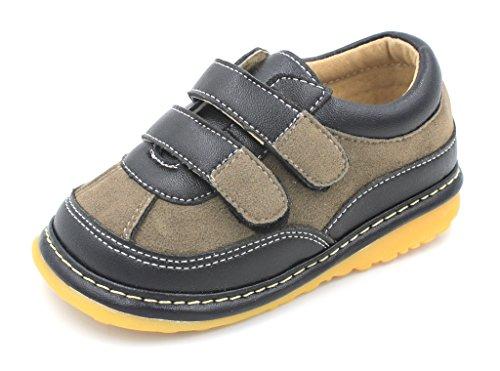 Black Suede Boy Sneaker Squeaky Shoes (7)
