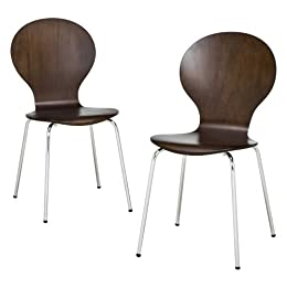 Product Image Modern Stacking Chairs 2 pk - Espresso