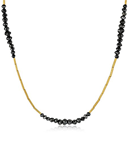 GURHAN-Dark-Mist-Black-Diamond-and-High-Karat-Gold-Tube-Necklace-16