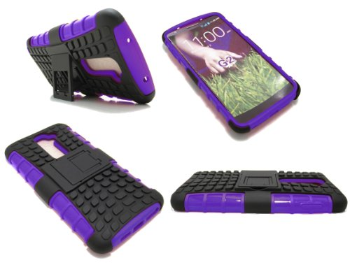 Cell-Nerds Nerdshield Armor Case Cover With Built-In Kickstand For The Lg Optimus G2 (Sprint, Verizon, T-Mobile, Bell, At&T, Telus And Rogers) Cell-Nerds® Packaging (Purple)