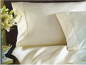 Waterford Linens Conlan King Pillowcases ~ Ivory