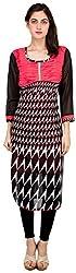 Sneharsh Women's Linen Kurti(SK112 _ 44, Multicolour, 44)