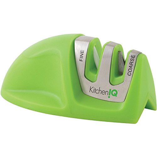 KitchenIQ 50009 Edge Grip 2 Stage Knife Sharpener Green (Kitcheniq 50009 Edge Grip compare prices)
