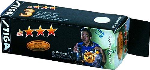 STIGA Competition 3 Star Arancione Palline da Ping Pong (confezione da 3 palline)