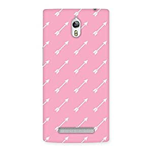 Stylish Pink And Arrow Multicolor Back Case Cover for Oppo Find 7