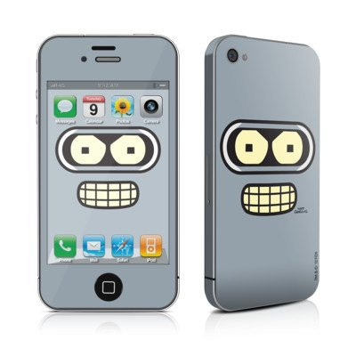 Bender Face Design Protective Decal Skin Sticker (High Gloss Coating) For Apple Iphone 4 / 4S 16Gb 32Gb 64Gb front-572370