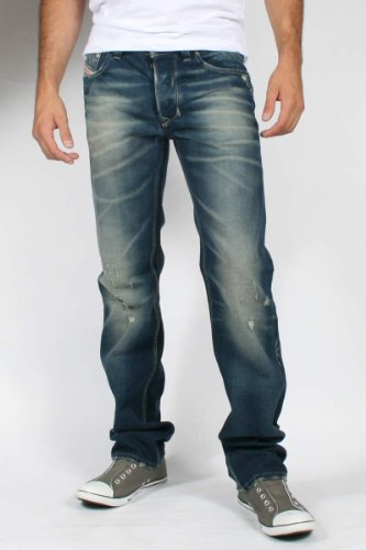 Brand New Diesel LARKEE 880R Mens Jeans, 0880R, Authentic Regular Fit Straight Leg (31 x 30)